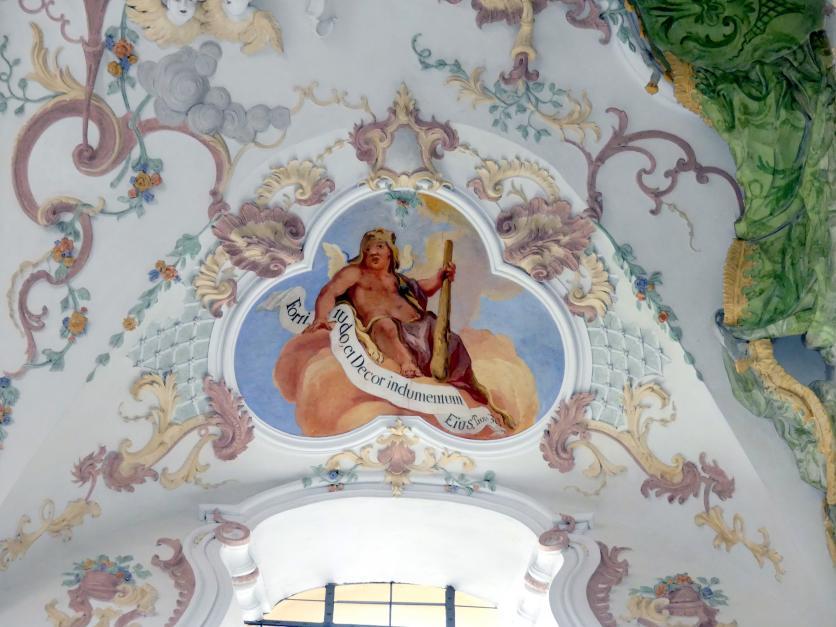 """Otto Gebhard: Zwei Fresken im Chorjoch """"Puttendarstellungen"""", 1743 - 1744"""