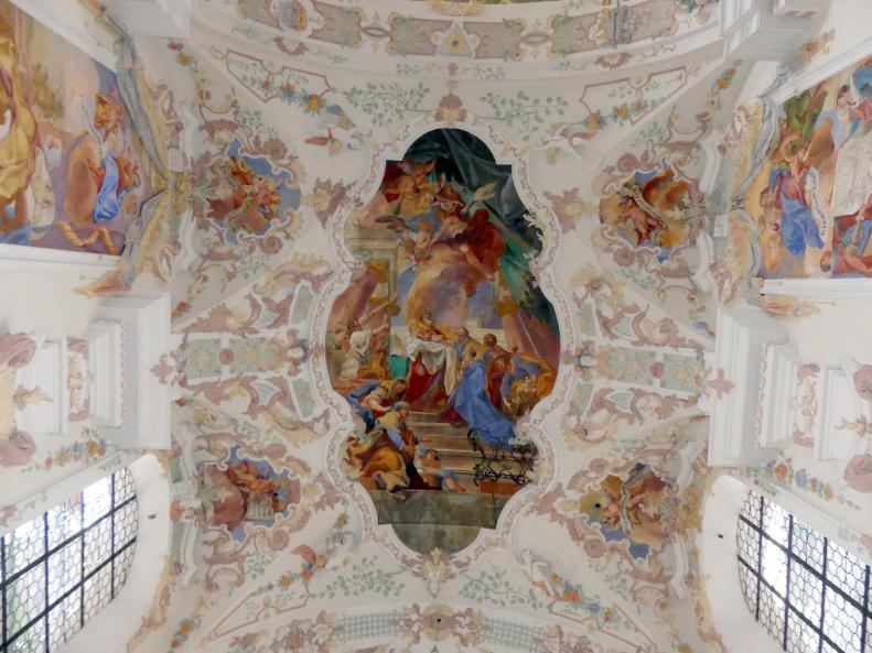 """Otto Gebhard: Fresko im Presbyterium """"Die Darbringung Jesu im Tempel"""", 1743 - 1744"""