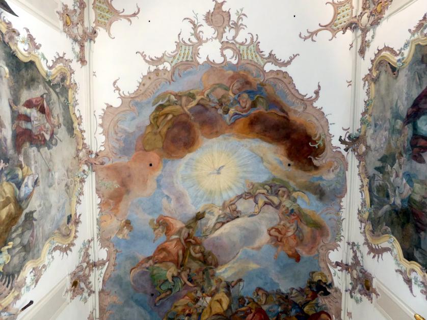 """Otto Gebhard: Fresko im Mittelschiff """"Die Verherrlichung der Menschenfischer"""" (Zuschreibung), 1754 - 1758"""