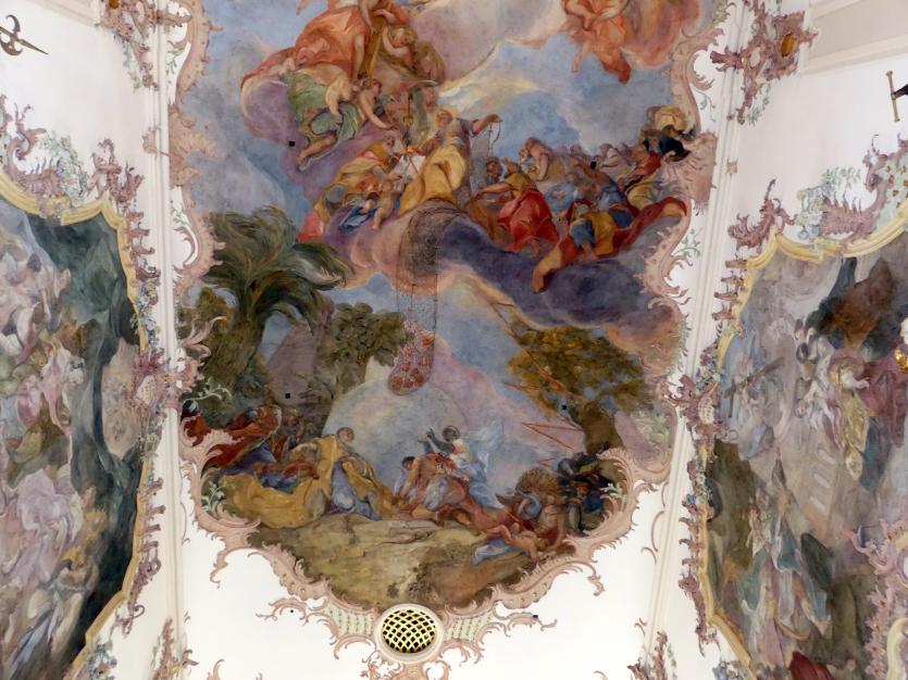 """Otto Gebhard: Fresko im Mittelschiff """"Die Verherrlichung der Menschenfischer"""" (Zuschreibung), 1754 - 1758, Bild 3/4"""