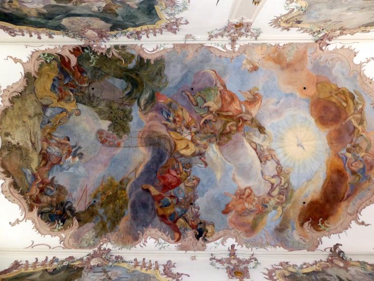 """Otto Gebhard: Fresko im Mittelschiff """"Die Verherrlichung der Menschenfischer"""" (Zuschreibung), 1754 - 1758, Bild 4/4"""