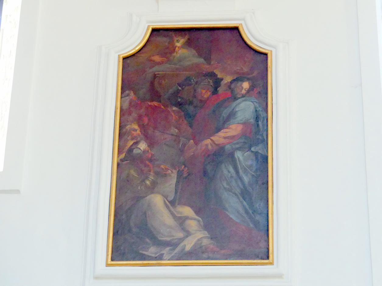 Johann Georg Bergmüller: Christus vor Kaiphas, 1713 - 1714