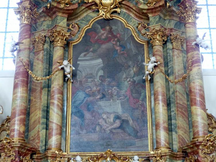 Johann Georg Bergmüller: Maria Magdalena wäscht Christus die Füße, 1756