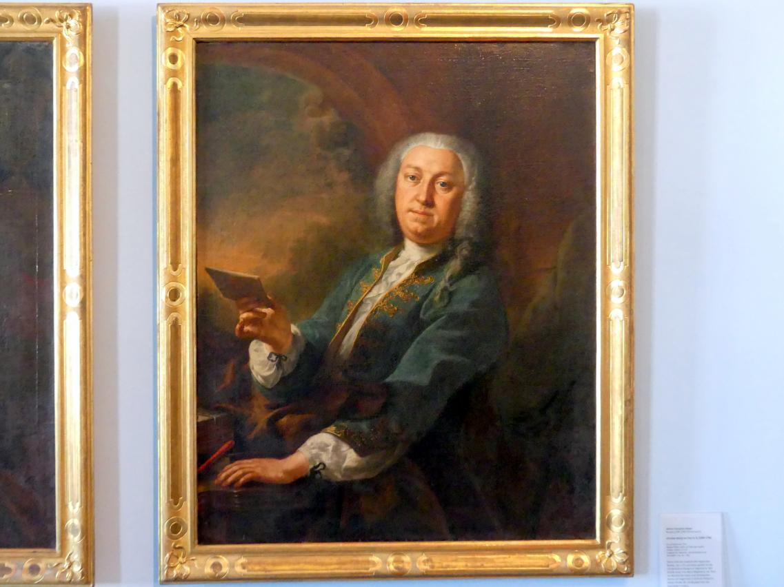 Johann Evangelist Holzer: Portrait des Augsburger Bankiers Christian Georg von Köpf d. Ä. (1699-1758), 1735