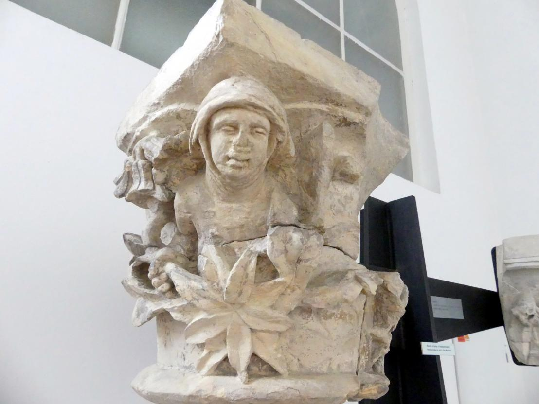 Dienstkapitell mit der Halbfigur der Heiligen Agnes von Böhmen, Nach 1261
