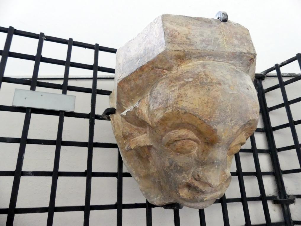 Kragstein mit einer grinsenden Maske, 2. Hälfte 14. Jhd.