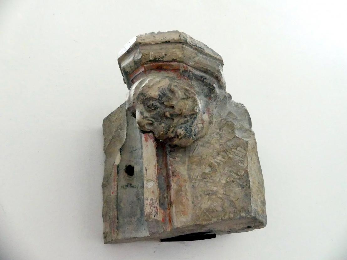 Fragment einer Verzierung mit Kragstein, 3. Viertel 14. Jhd.