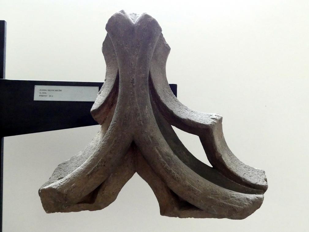 Fragment eines Fenstermaßwerks, 14. Jhd.