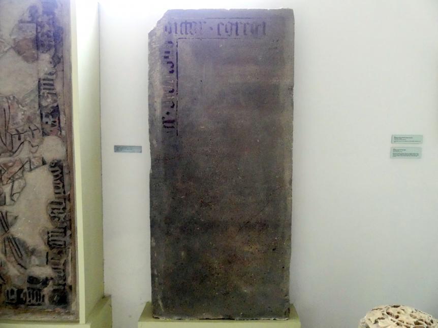 Grabmal des Malers Oswald, Hofmaler Karls IV. (1316-1378), 2. Hälfte 14. Jhd.