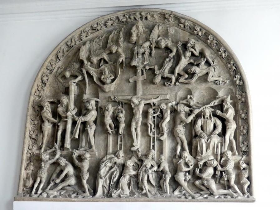 Tympanon mit Motiven der Geißelung, Dornenkrönung und Kreuzigung Christi, 1380 - 1390