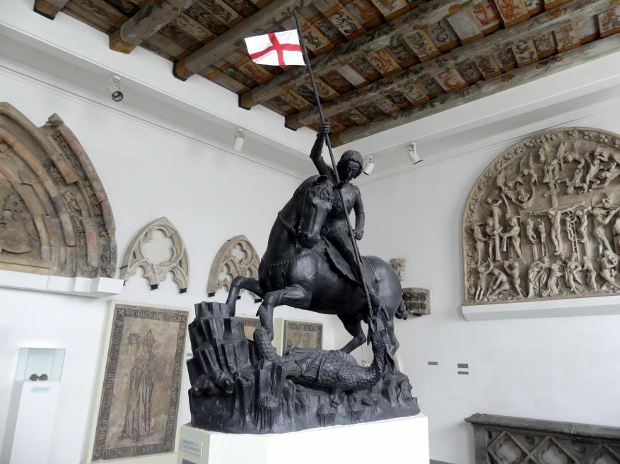 Reiterstatue des Hl. Georg im Kampf mit dem Drachen, 1373