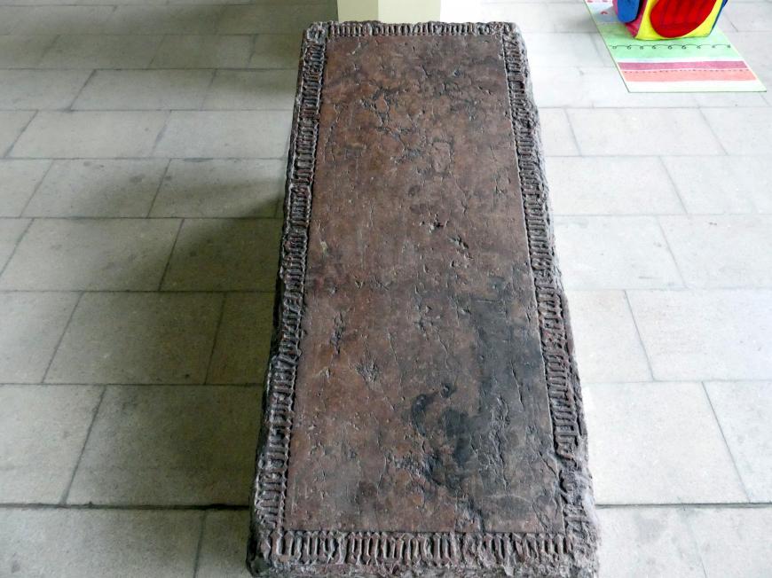 Grabmal des Prager Domherren Oldřich aus Žlutice (gestorben 9.8.1380), 1380