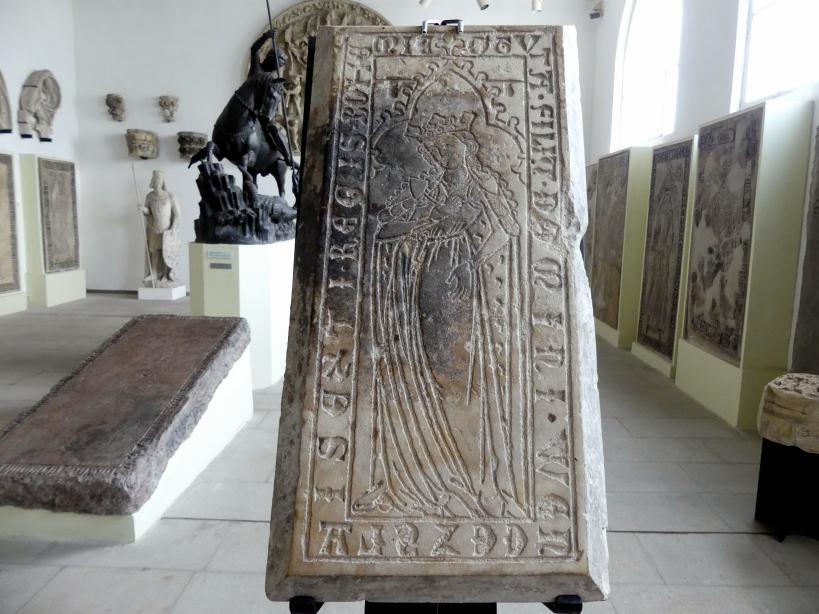 Grabmal der Prinzessin Guta II. Přemyslid (gestorben 1297), Tochter des Königs Wenzel II., um 1297