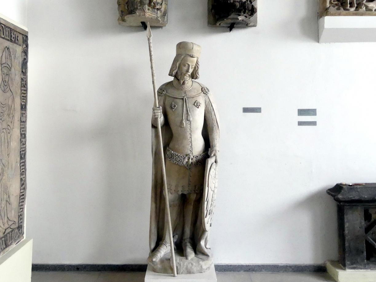 Peter Parler: Gipsabguss einer Statue des Hl. Wenzel in Rüstung von Peter Parler aus dem Veitsdom, Undatiert