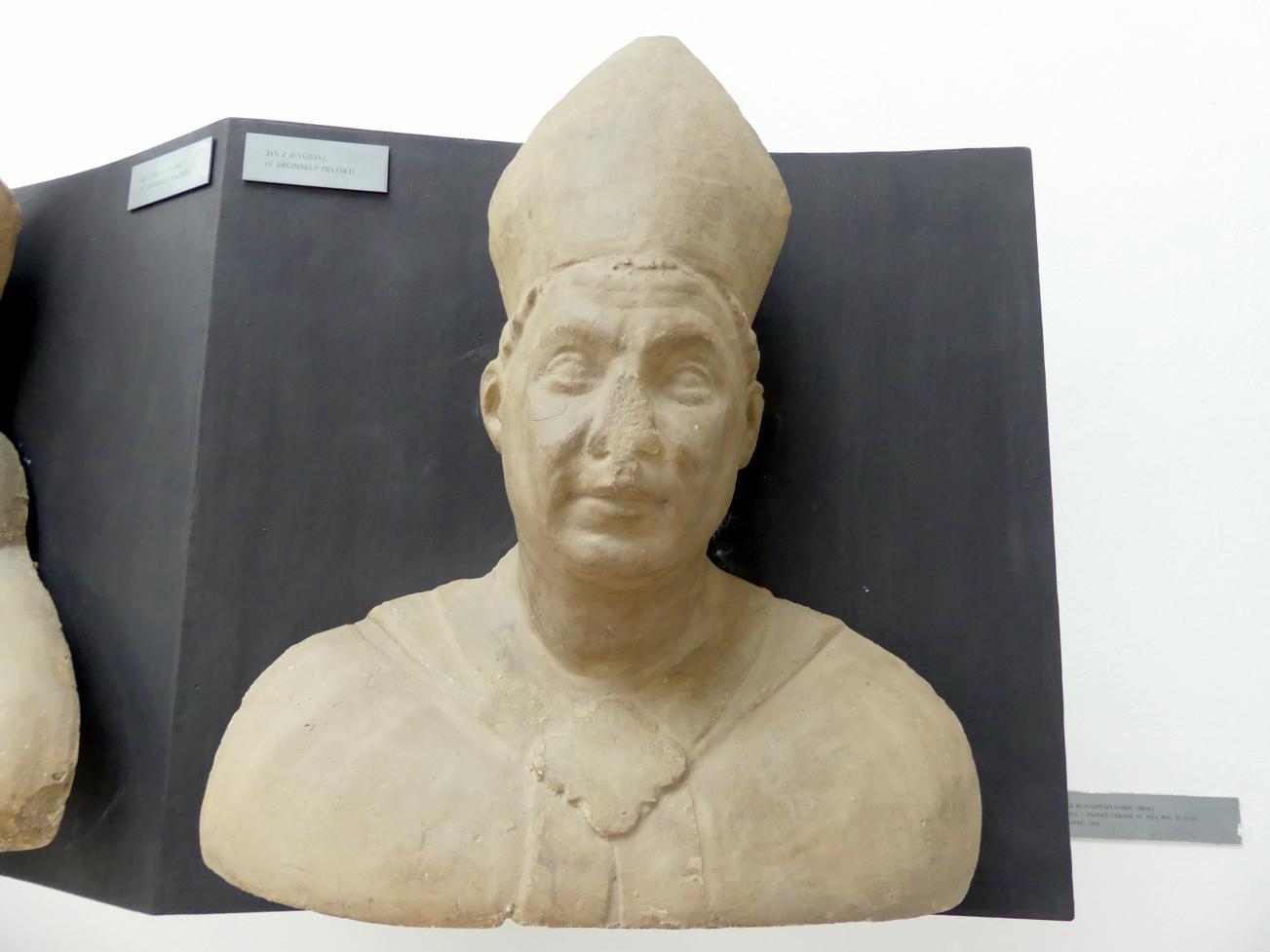 Peter Parler: Johann von Jenstein, 3. Erzbischof von Prag, 1376 - 1385