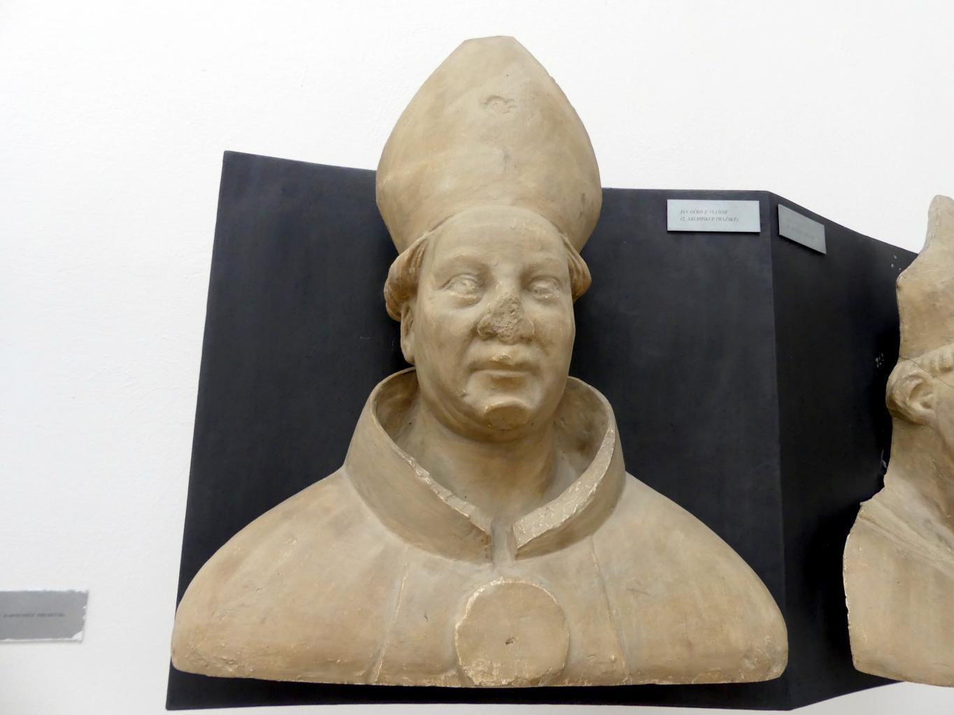 Peter Parler: Johann Očko von Wlašim, 2. Erzbischof von Prag, 1376 - 1385