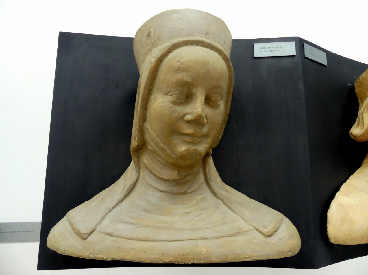 Peter Parler: Elisabeth Přemyslovna, Tochter von Wenzel II. und Guta von Habsburg, Mutter von Karl IV., 1376 - 1385