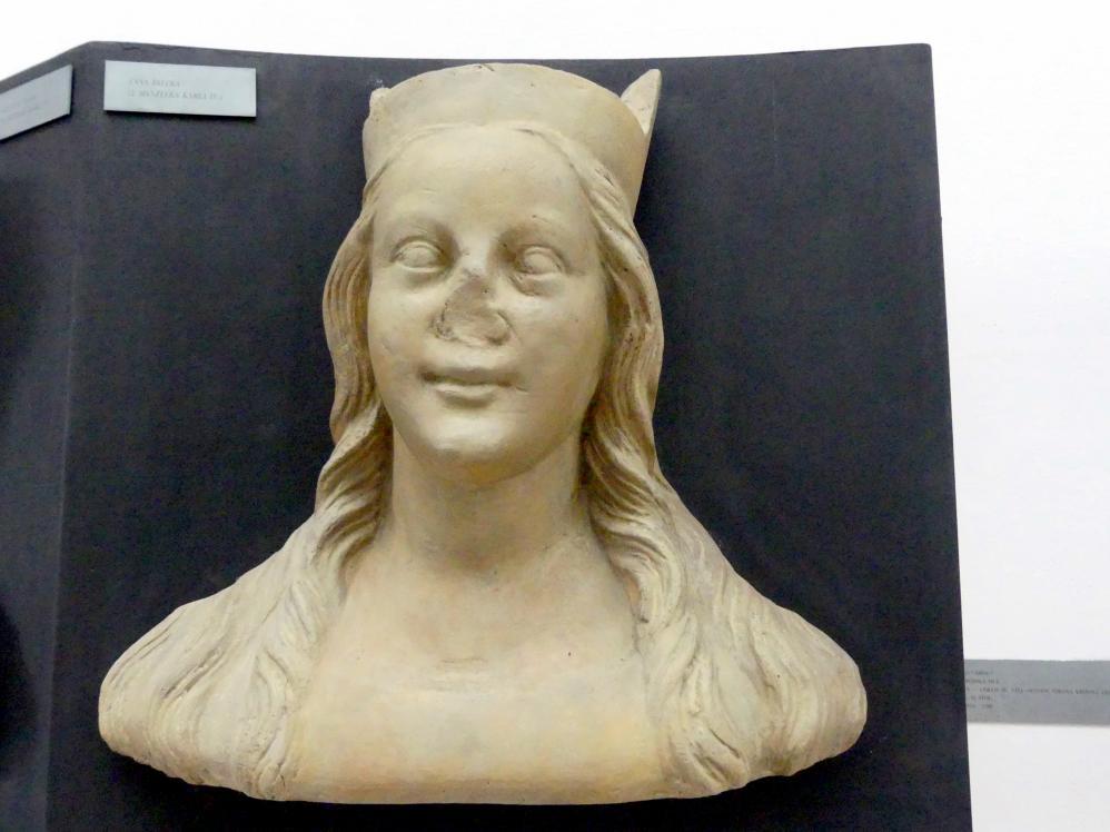 Peter Parler: Anna von der Pfalz, 2. Ehefrau von Karl IV., 1376 - 1385