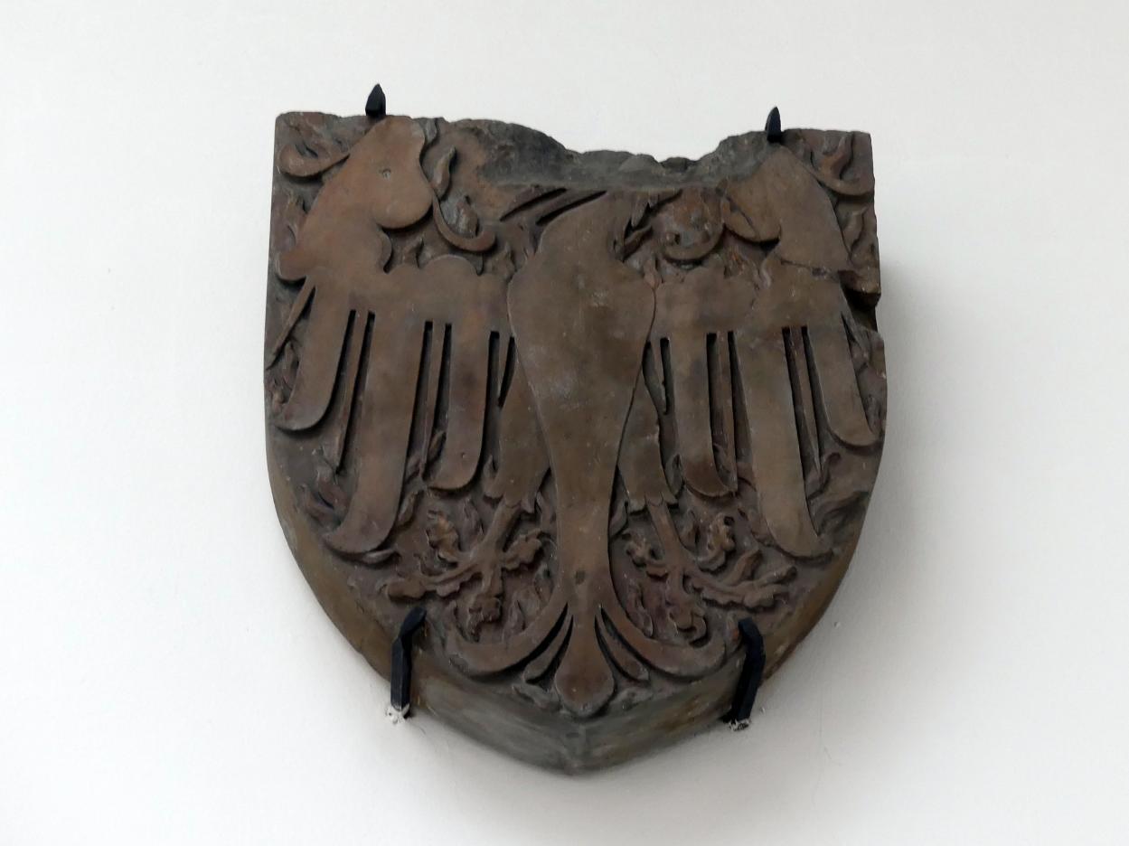 Wappen mit dem Sankt Wenzelsadler, Beginn 15. Jhd.