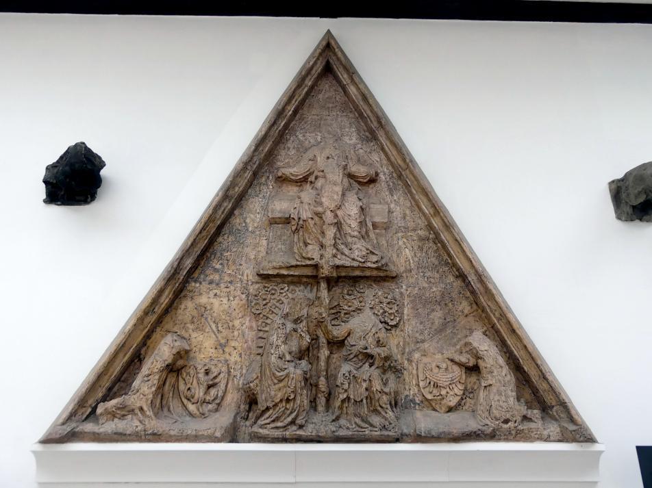 Tympanon (Schmuckfläche) mit der Szene der Krönung Mariens, um 1350