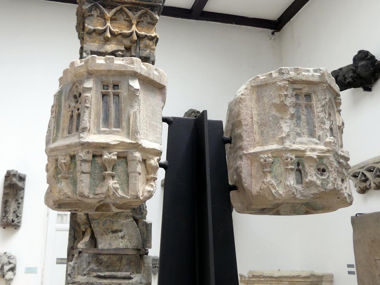 Zwei Baldachine, um 1350