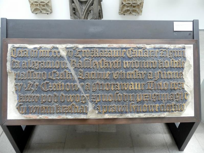 Zwei Tafeln mit dem Text der Basler Kompaktaten, 1436