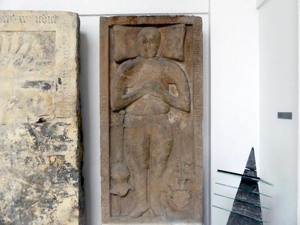 Der Grabstein von Ritter Jan Hlaváč von Vojenice und Chvalovice (gestorben 16.10.1581), 1581