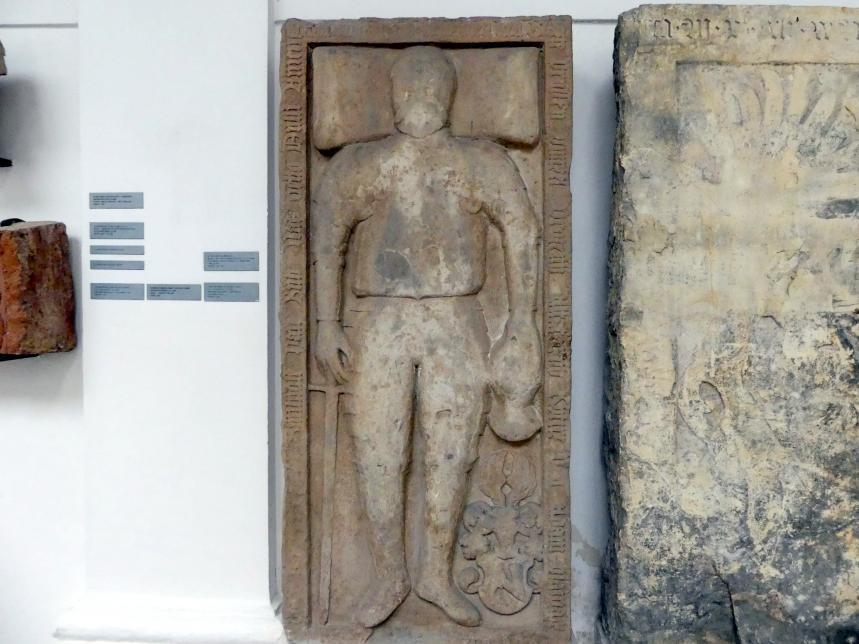 Der Grabstein von Ritter Adam Hlaváčové von Vojenice und Chvalovice (gestorben 18.1.1580), 1580