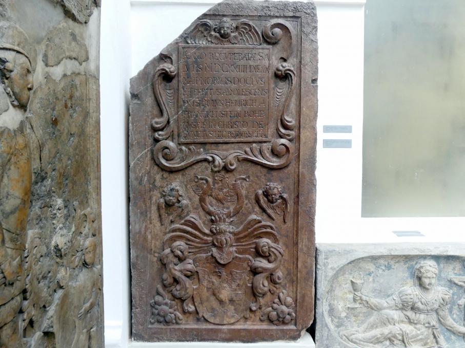 Grabmal von Pavel Hendrych von Frankenstein (gestorben 20.5.1624), 1624