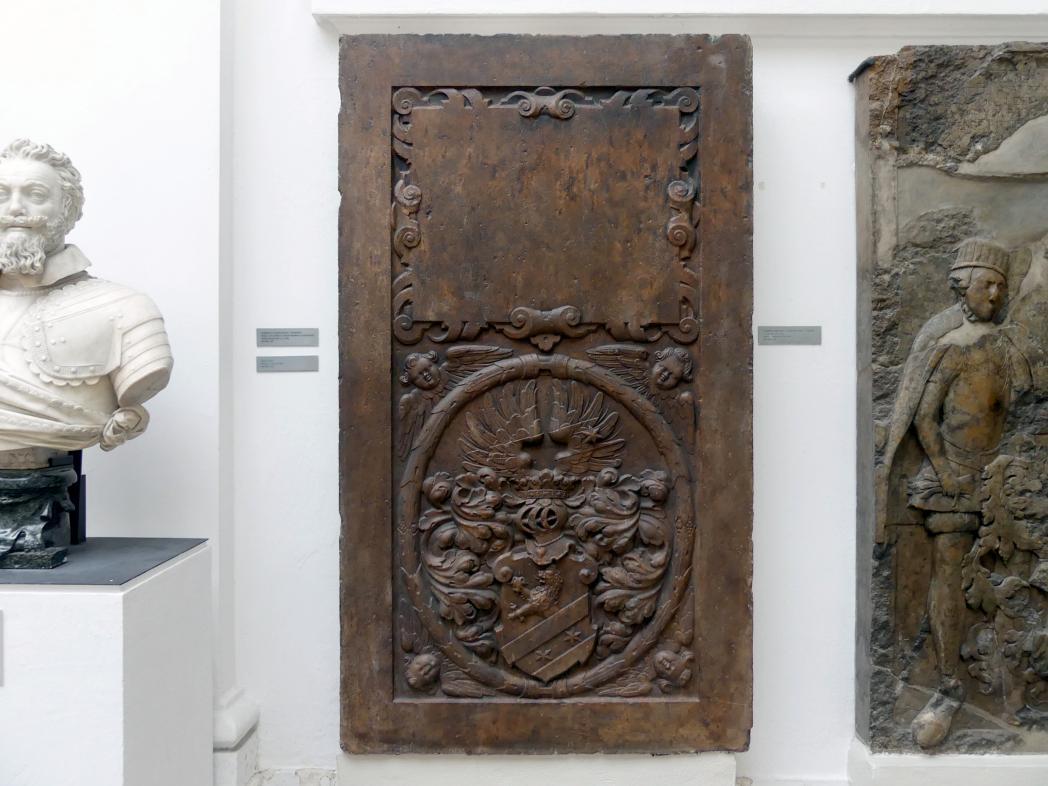 Grabmal mit Wappen der Krocín aus Drahobejle, 17. Jhd.