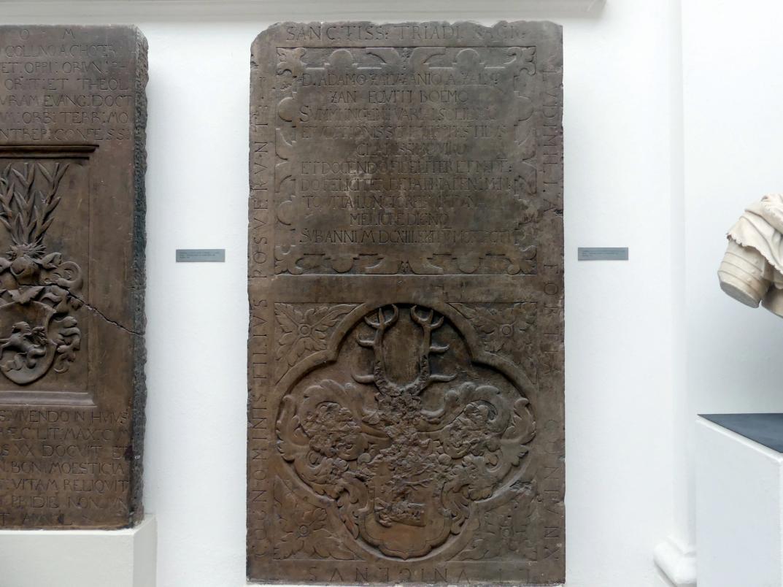 Grabmal von Adam Zalužanský aus Zalužan (gestorben 8.12.1613), 1614