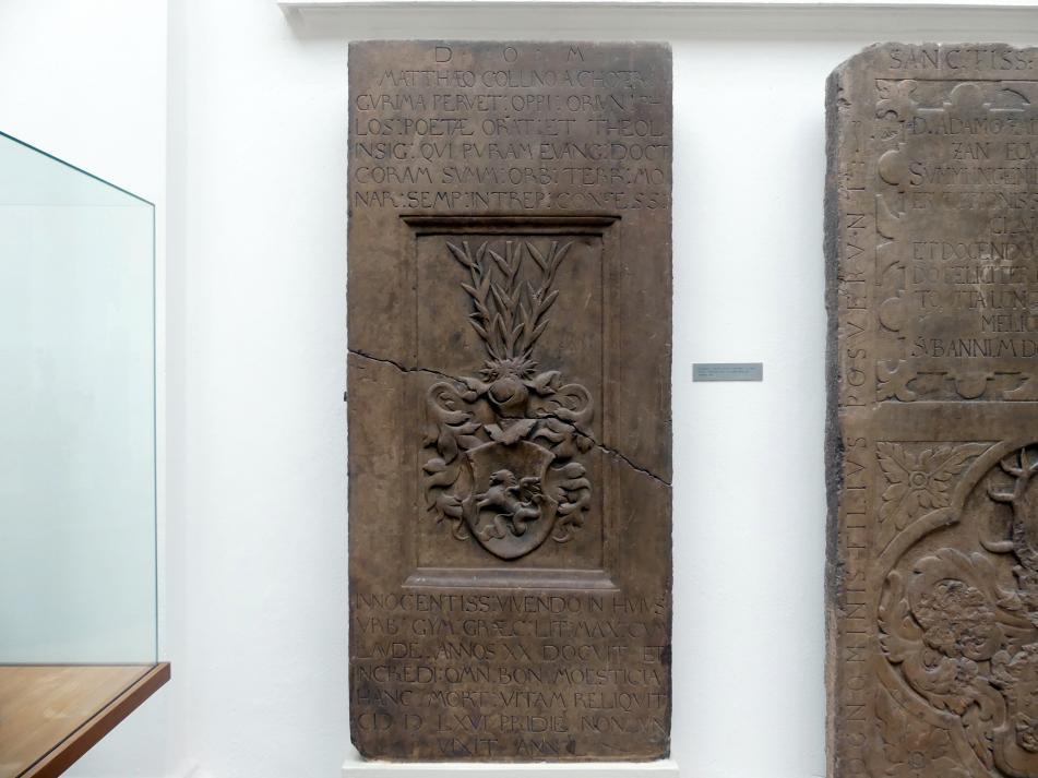 Grabmal von Matthaeus Collinus von Choterinaa (gestorben 4.6.1566), 1566