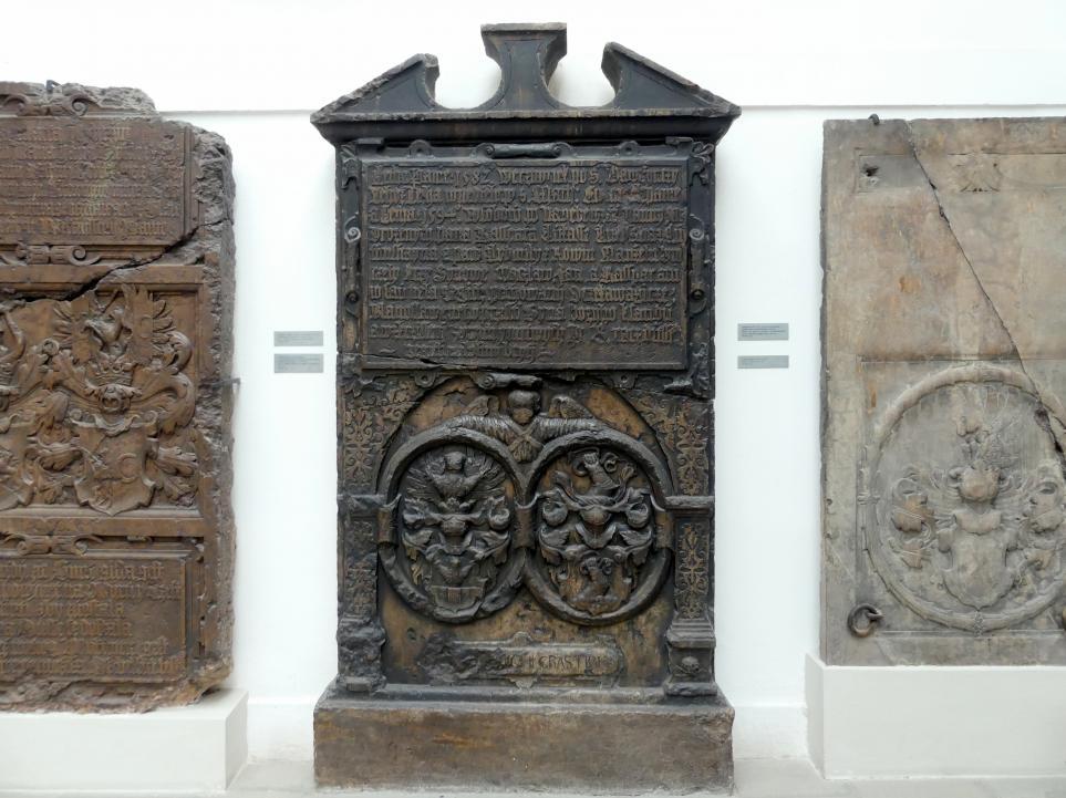 Grabmal von Wenzel, Jan und Kasper (gestorben 16.8.1582, 23.9.1582 und 17.8.1594), Söhne des königlichen Beamten Kaspar Lukas zu Luftenstein, 1596 - 1599