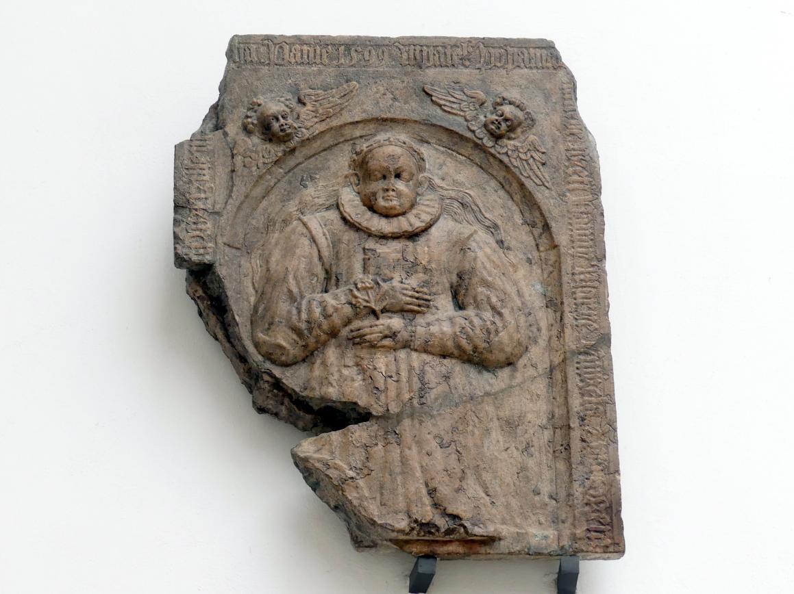 Grabmal eines gewissen Mädchens Eva (gestorben 17.8.1599), 1599