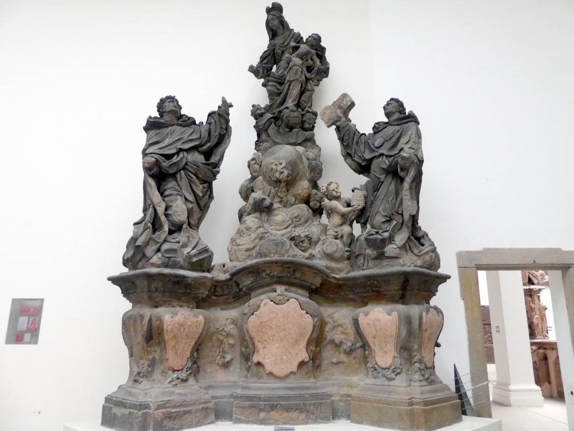 Mathias Wenzel Jäckel: Jungfrau Maria mit dem Hl. Dominikus und dem Hl. Thomas von Aquin, 1708