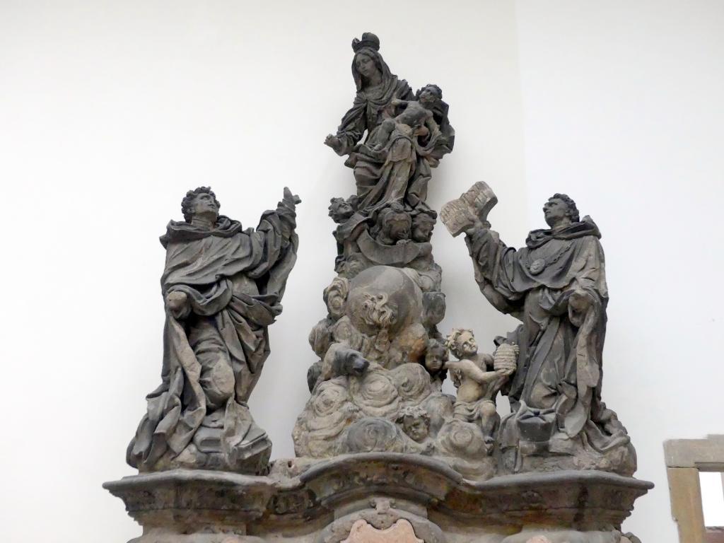 Mathias Wenzel Jäckel: Jungfrau Maria mit dem Hl. Dominikus und dem Hl. Thomas von Aquin, 1708, Bild 2/2
