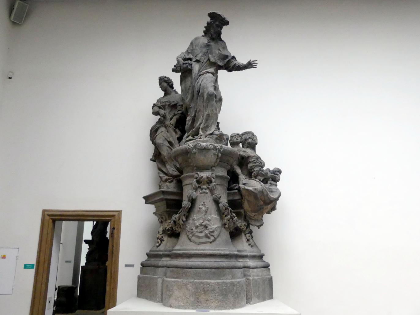 Matthias Bernhard Braun: Figurengruppe mit dem Hl. Ivo Hélory von Kermartin, 1711