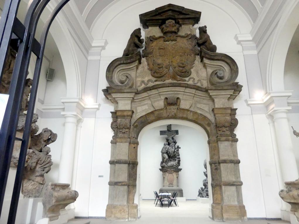 Slavatovská-Portal, das sogenannte Bärentor, um 1680