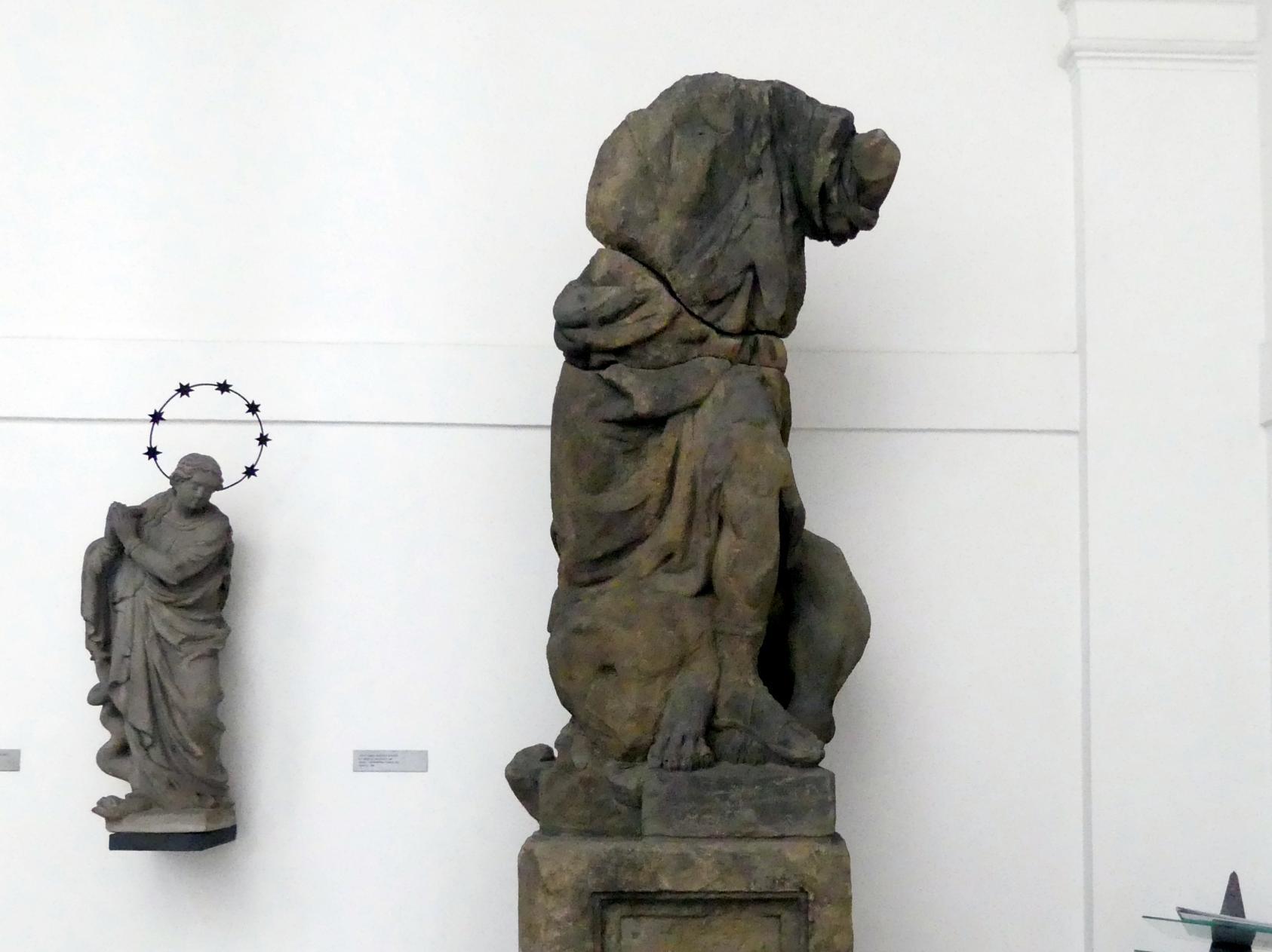 Johann Georg Bendl: Fragment der Mariensäule auf dem Altstädter Ring: ein Engel, der mit einem Drachen kämpft, 1650