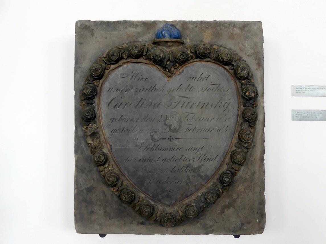 Grabmal von Karolina Turinský (gestorben 27.2.1841), 1841