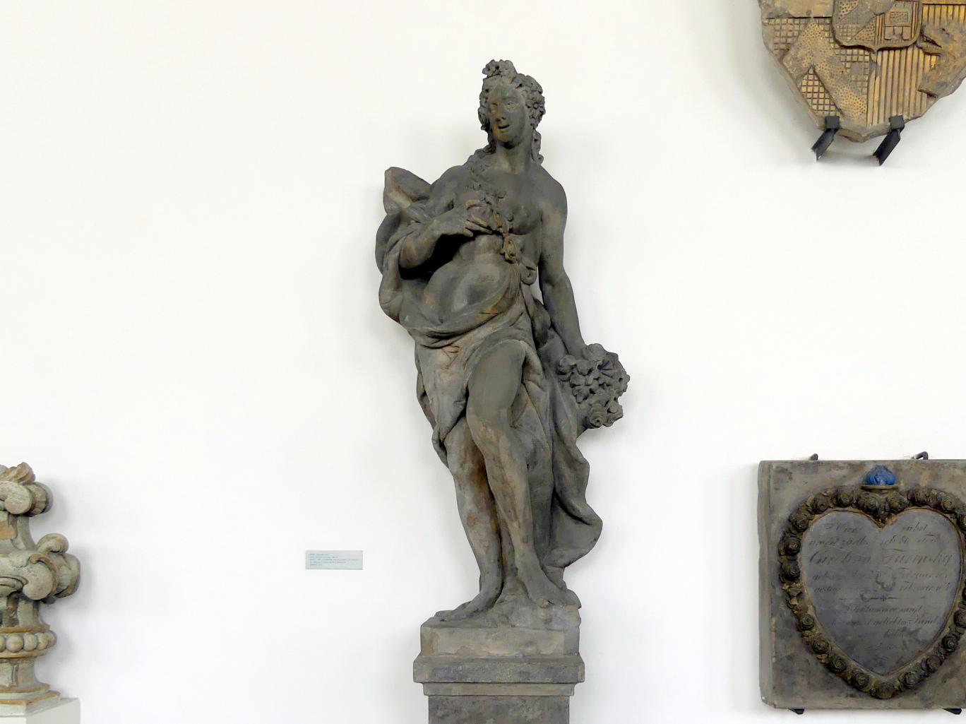 Matthias Bernhard Braun: Flora (römische Göttin der Blüte, hier als Allegorie des Frühlings), Um 1720