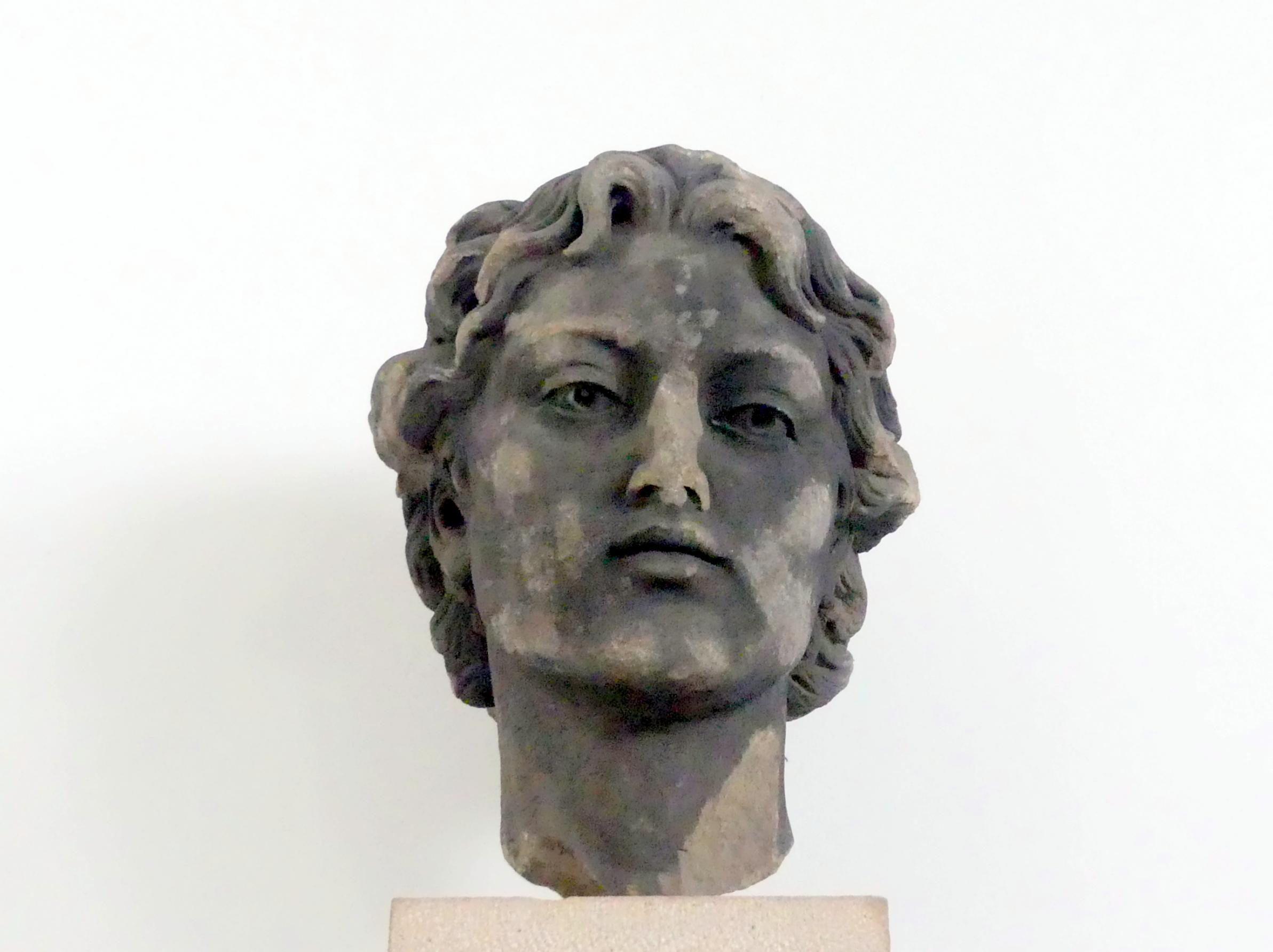 Bohuslav Schnirch: Kopf eines Jünglings aus der Allegoriengruppe der Hingabe (Inventar 407), 1889