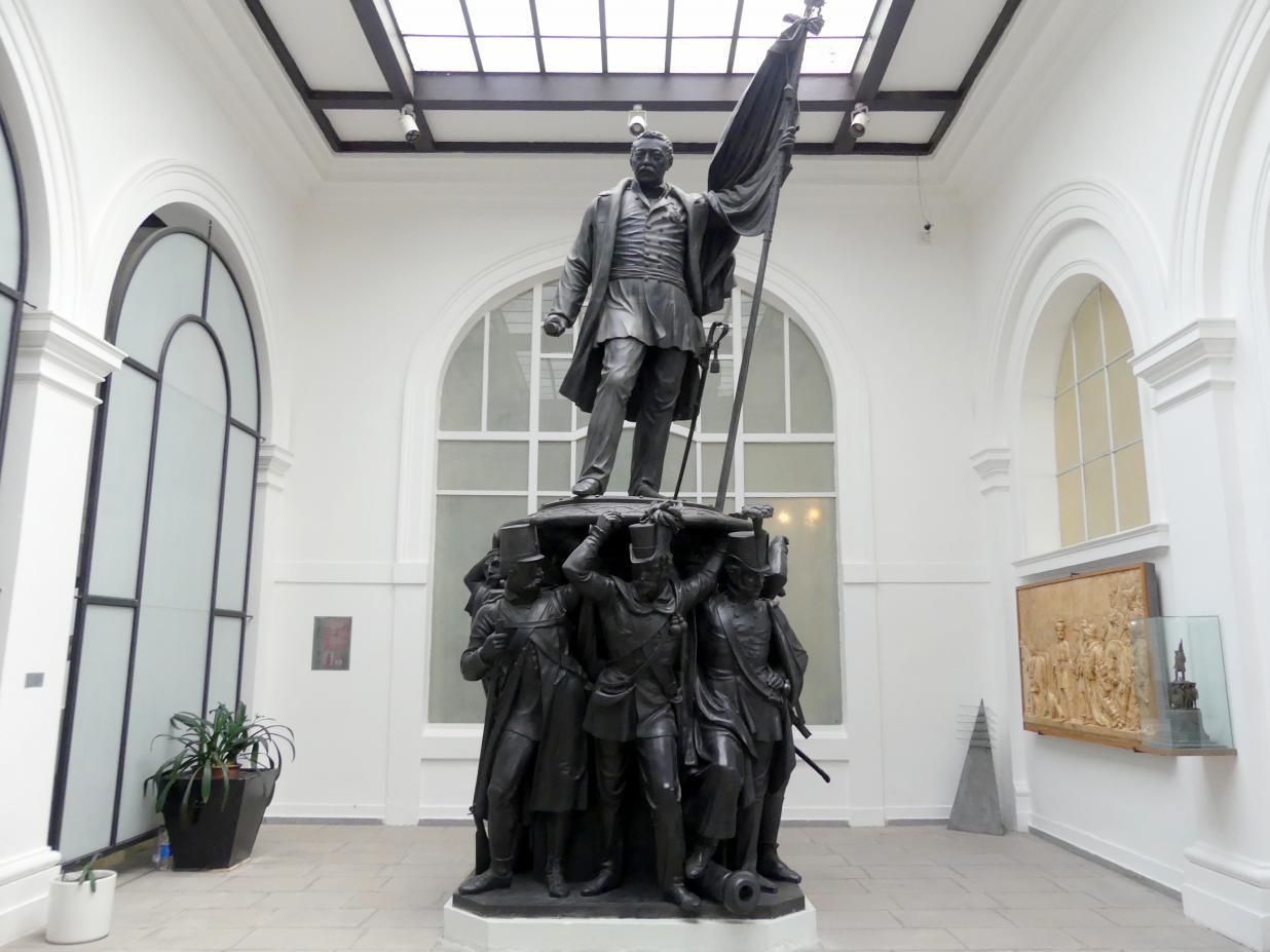 Josef Max: Skulpturale Teil des Denkmals von Feldmarschall Josef Wenzel Radetzky von Radetz, 1858