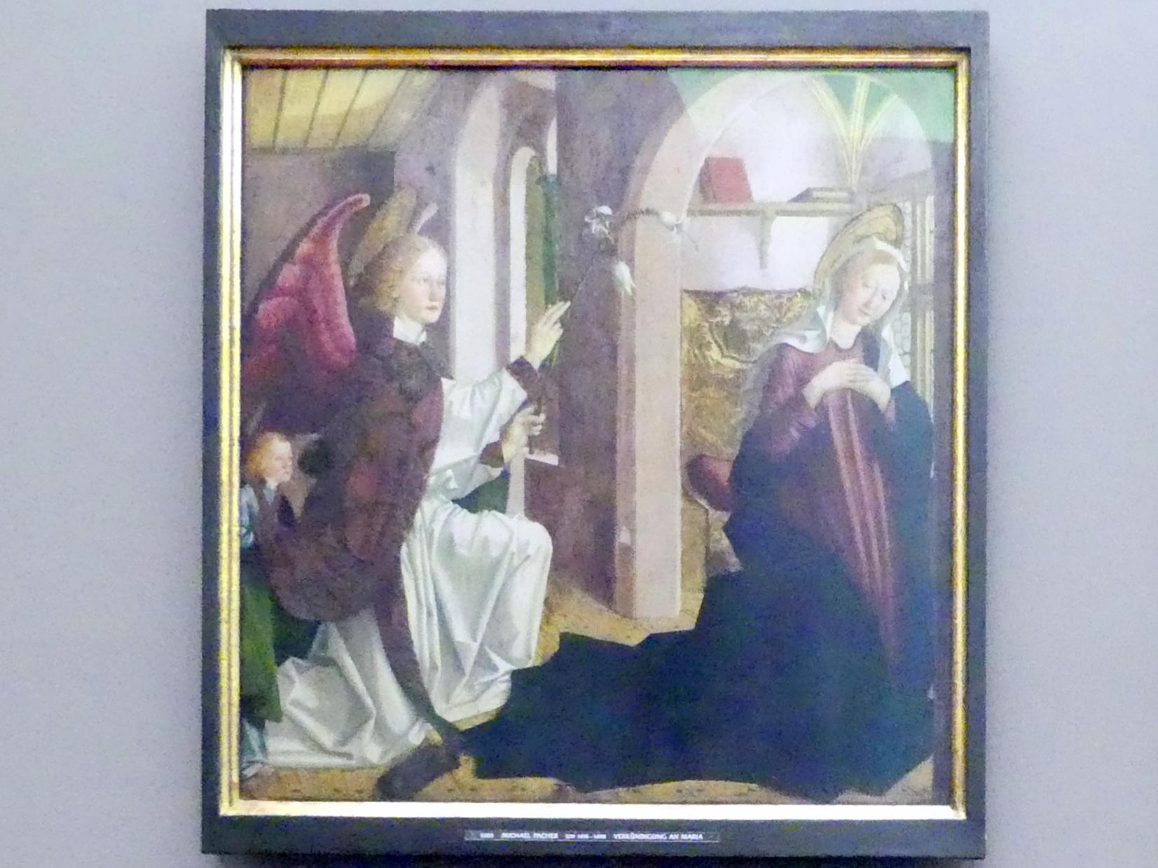 Michael Pacher: Innenseite des Schreinflügels des Hochaltars 'Verkündigung an Maria', 1465