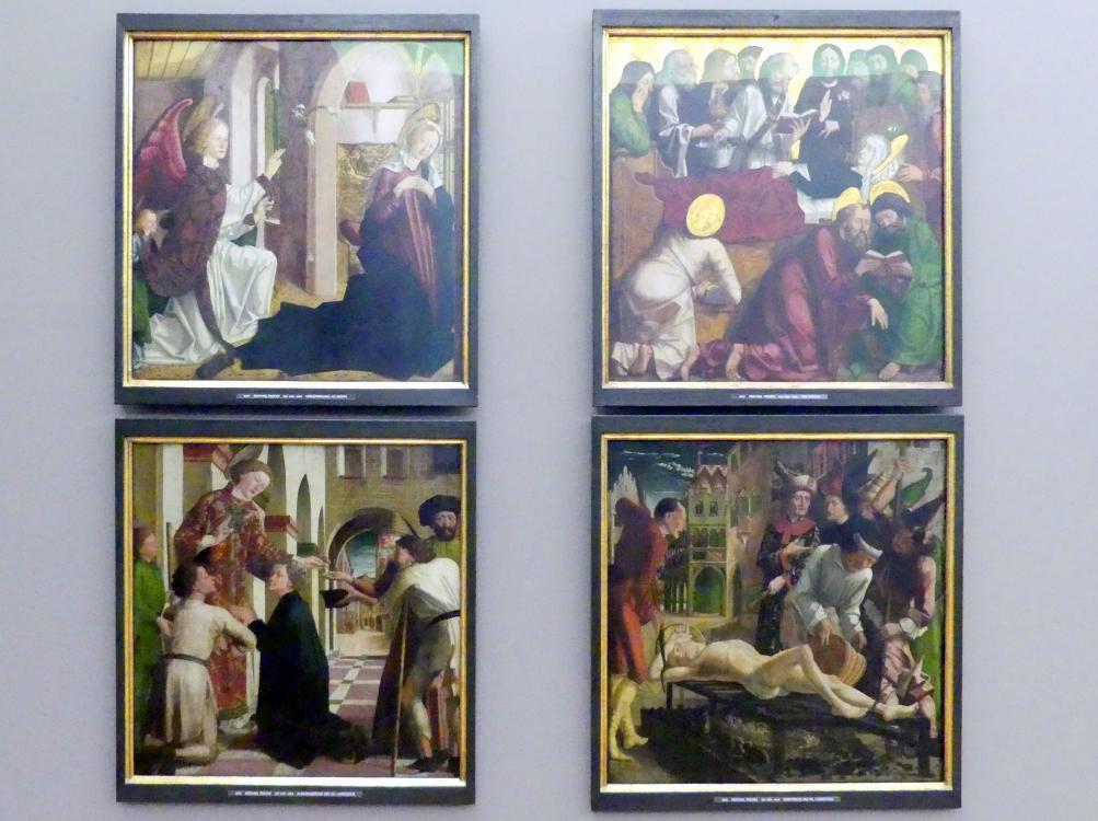 Michael Pacher: Innenseite des Schreinflügels des Hochaltars 'Verkündigung an Maria', 1465, Bild 2/3