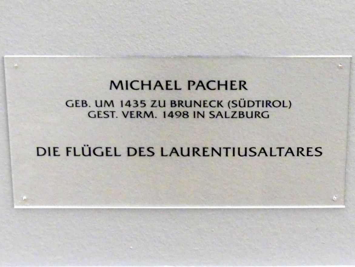 Michael Pacher: Innenseite des Schreinflügels des Hochaltars 'Verkündigung an Maria', 1465, Bild 3/3