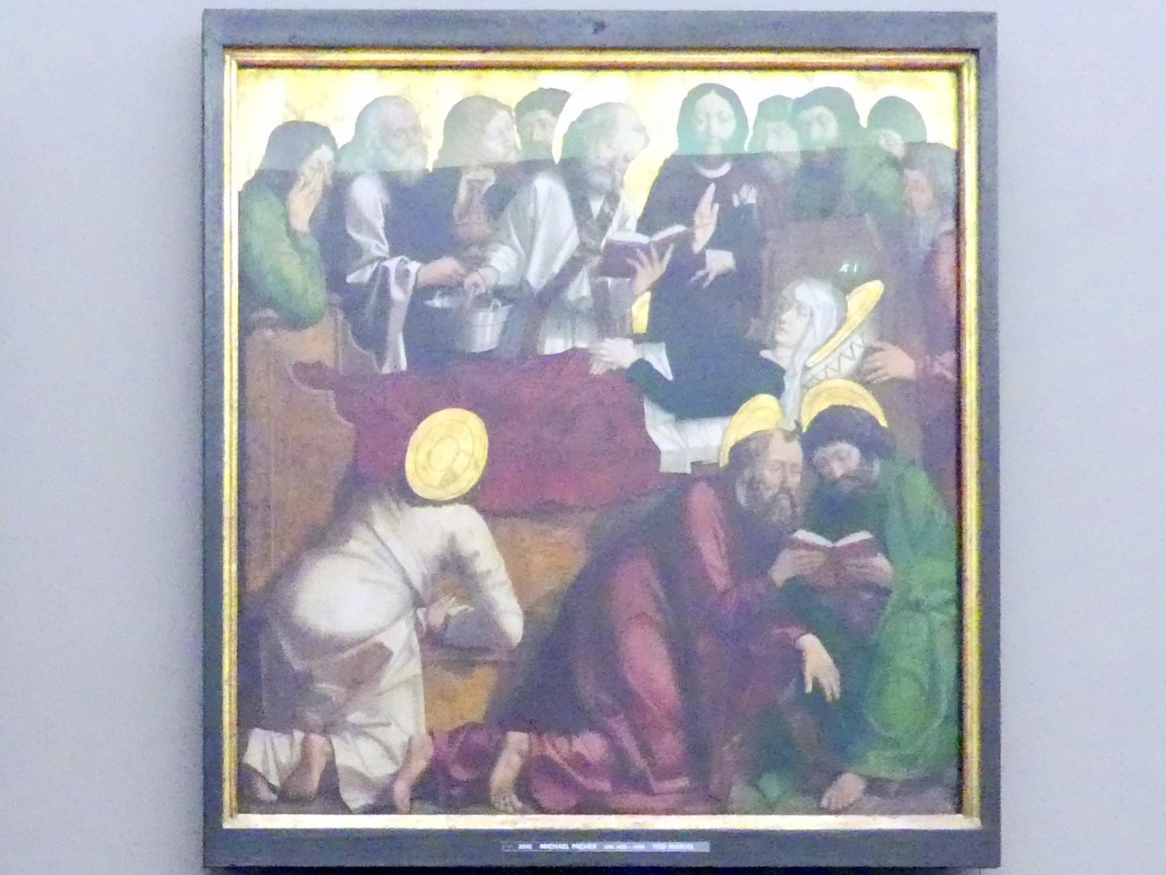 Michael Pacher: Innenseite des Schreinflügels des Hochaltars 'Tod Mariens', 1465