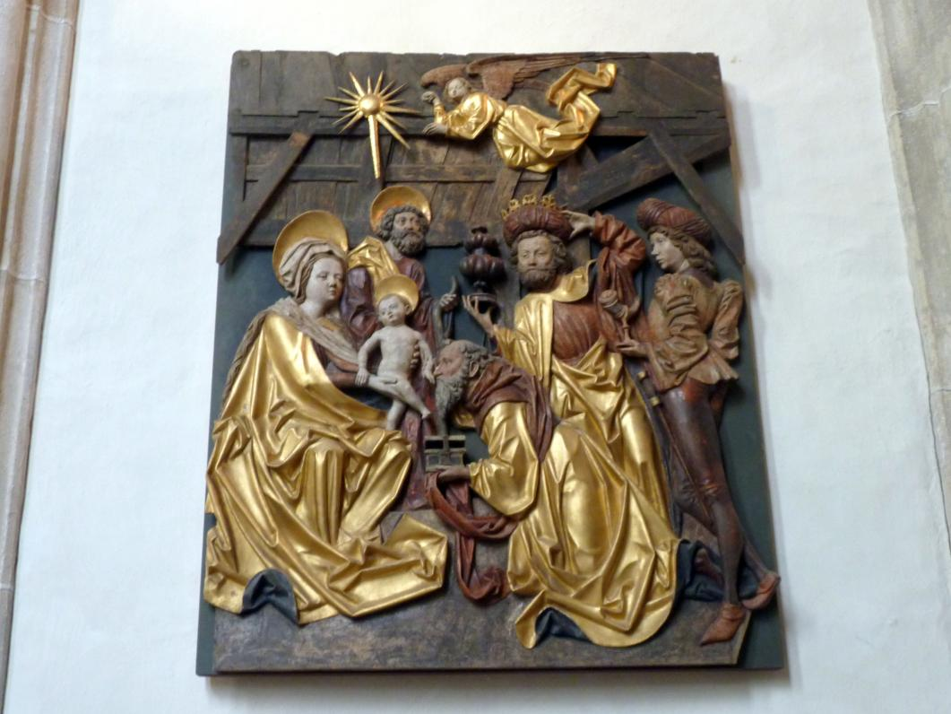 Michael Pacher: Grieser Altar, Flügelreliefs: Verkündigung an Maria und Anbetung der Könige, 1471 - 1475
