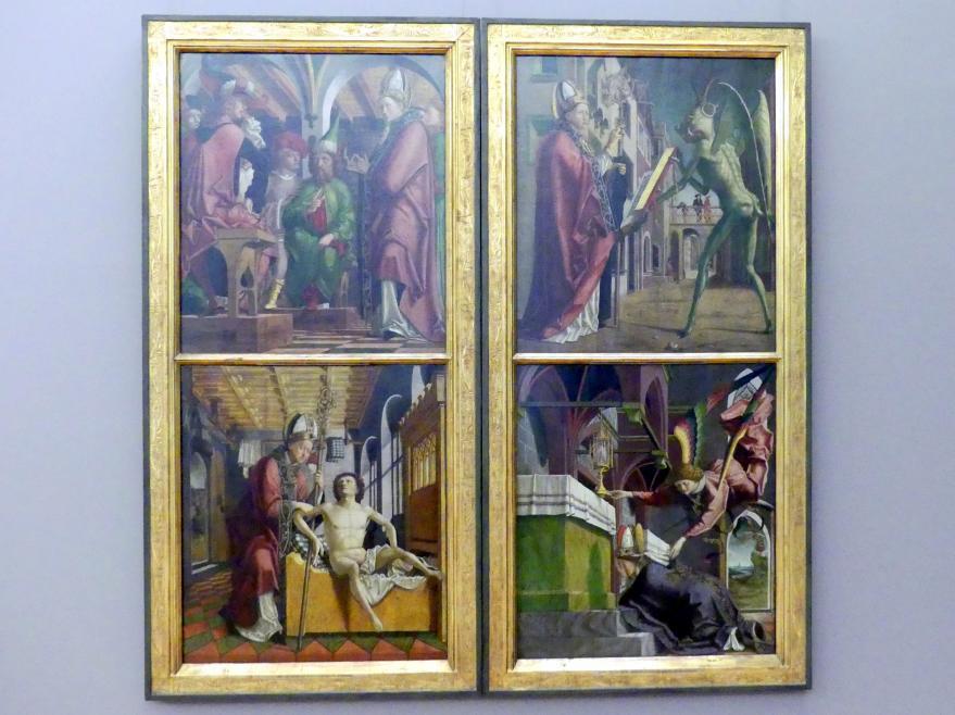 Michael Pacher: Kirchenväteraltar aus Kloster Neustift, 1470 - 1478