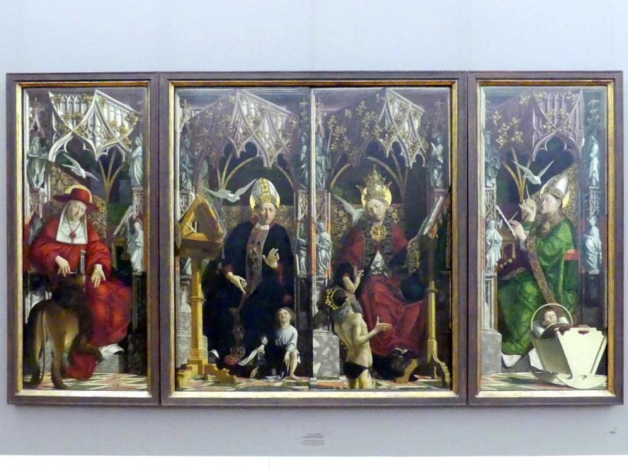 Michael Pacher: Kirchenväteraltar aus Kloster Neustift, 1470 - 1478, Bild 2/4